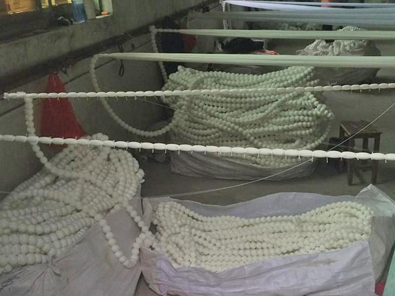 纤维球生产现场
